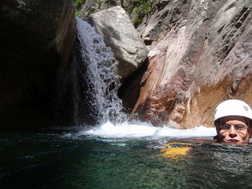 Un des nombreux saut que permet ce canyon...