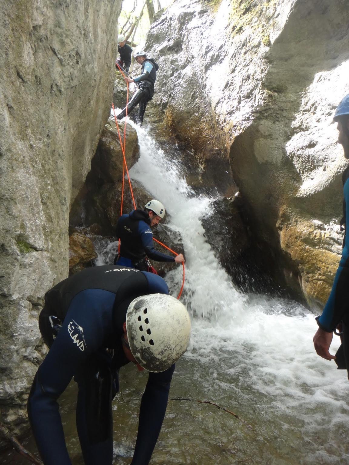 Les premiers rappels du canyon