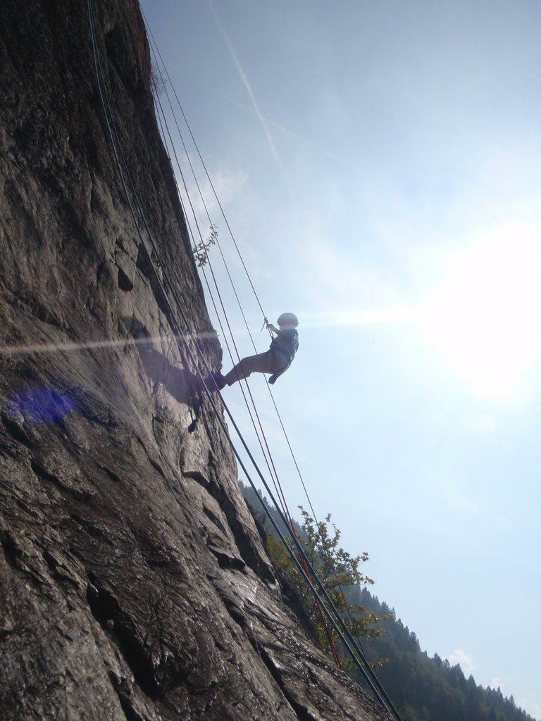 Après 2 séances l'escalade est plus verticale.