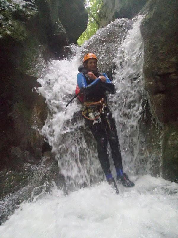 Wasserrutsche im Canyon du Furon