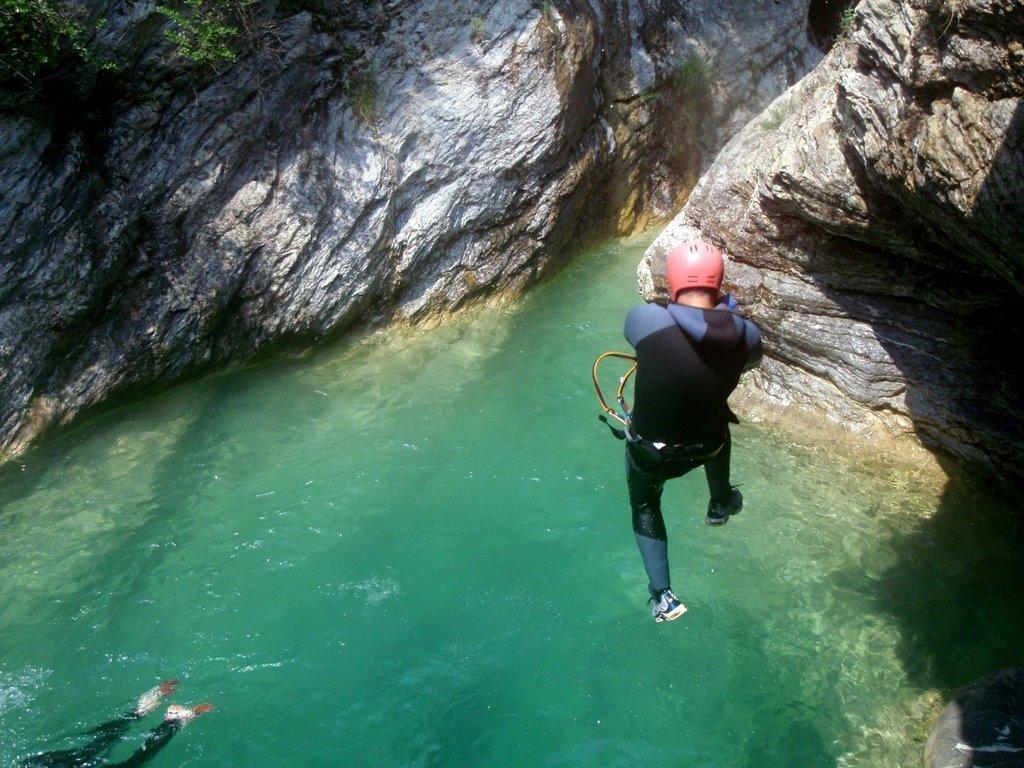 Premier tier du canyon.