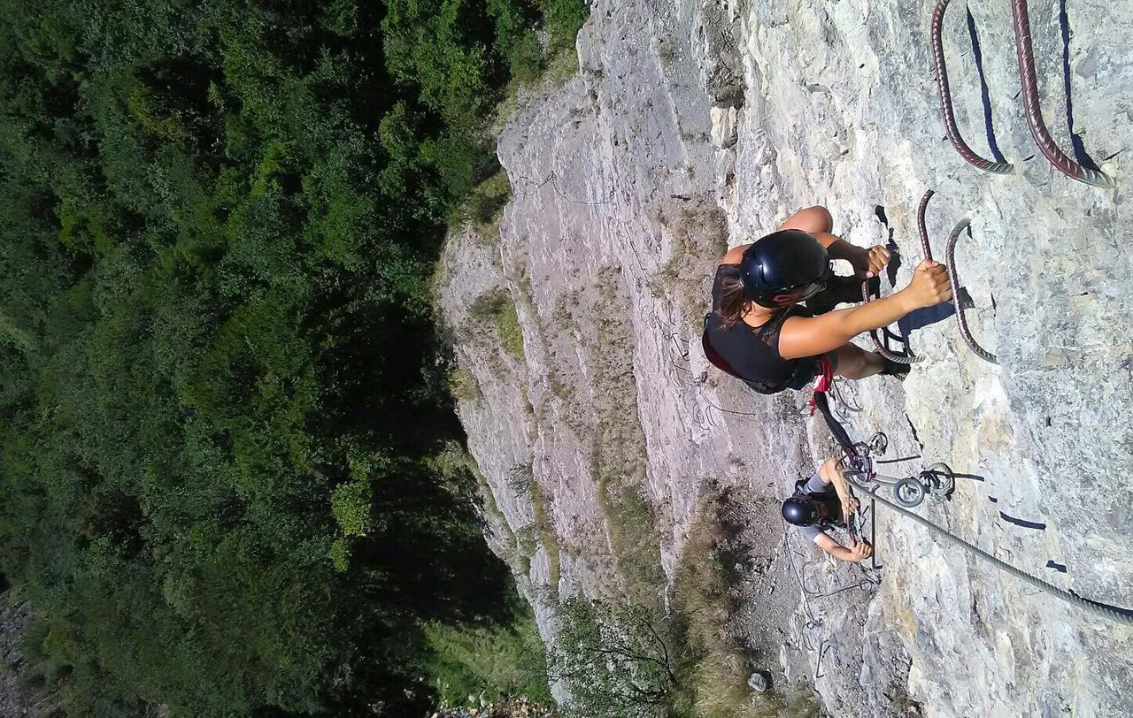 Via ferrata de Crolles, en Isère.