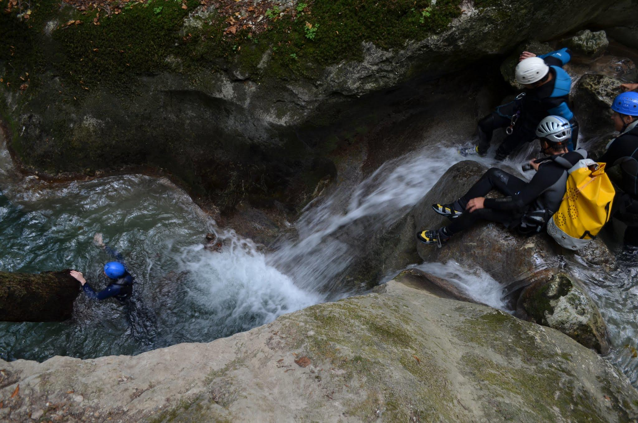 4 meters slide in Furon canyon