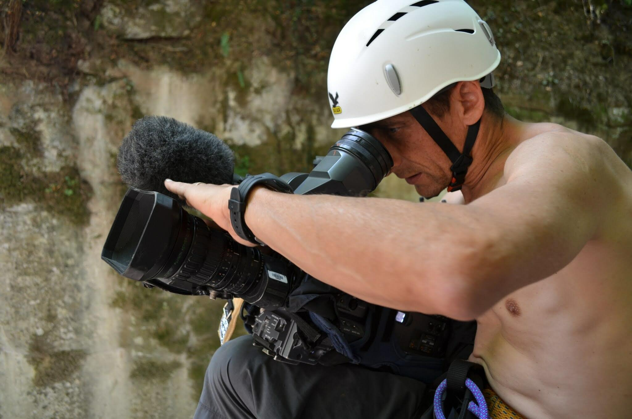 Tournage pour France 3 au canyon du Furon haut