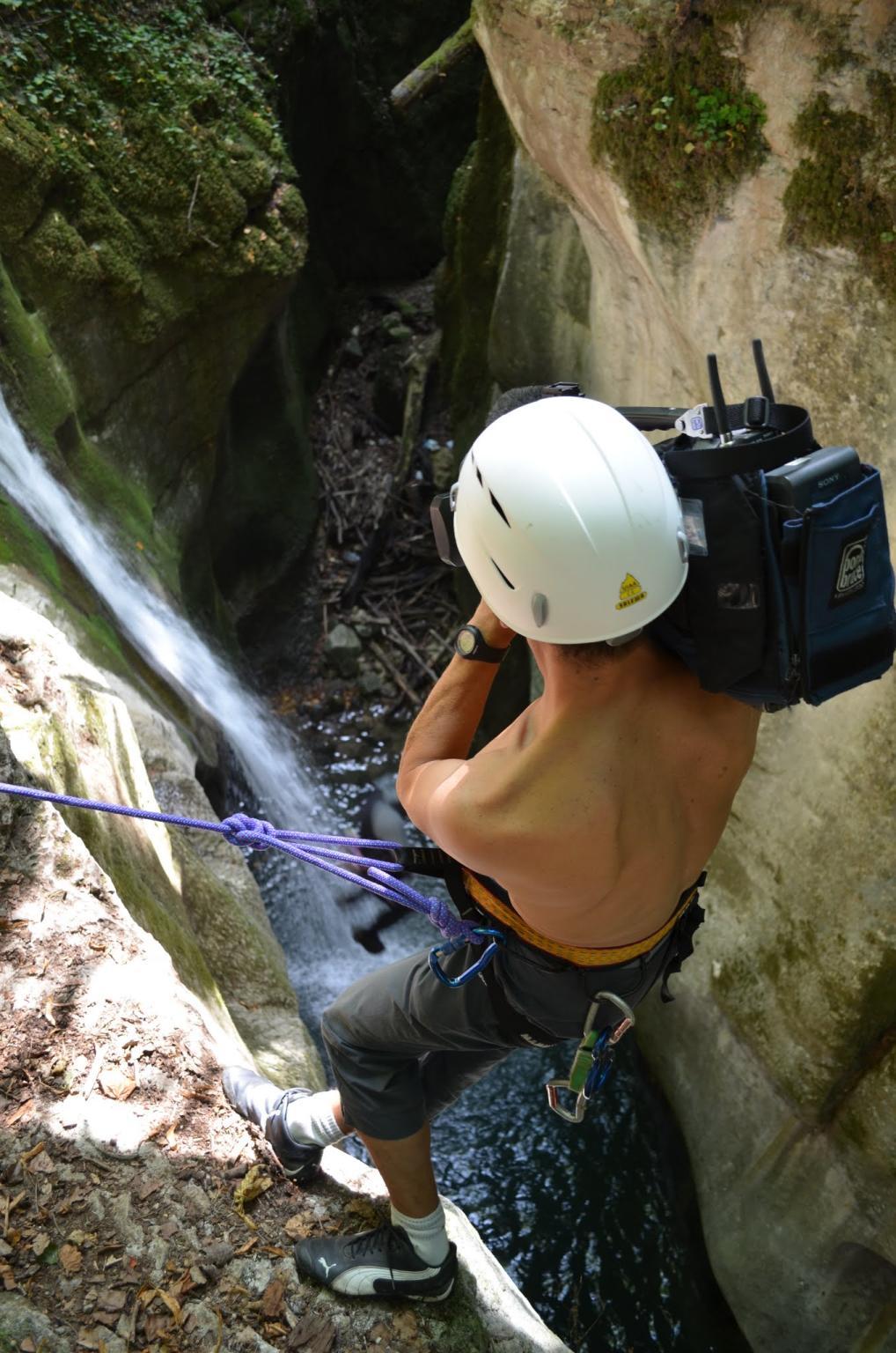 The Cameraman above the canyon