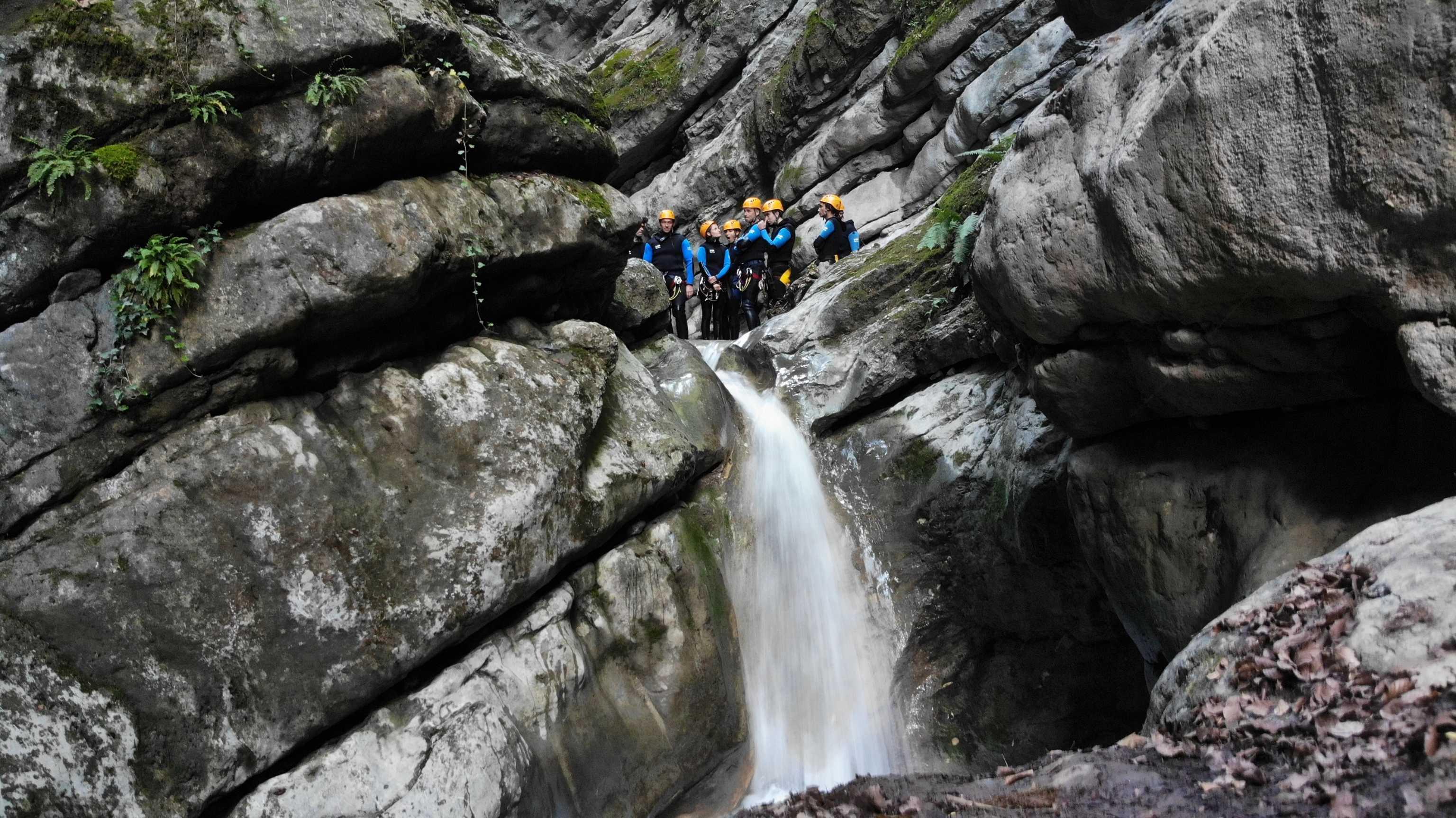 Un des sauts du canyon d'Angon