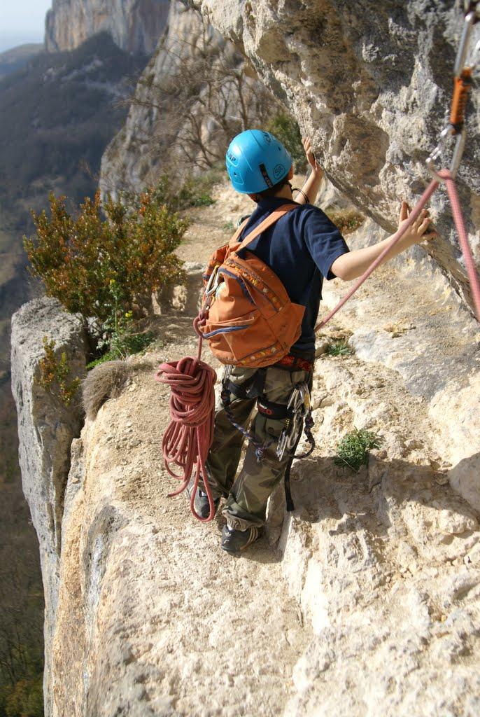 Les passages peuvent être aériens mais sans dangés car assurée en corde tendue.
