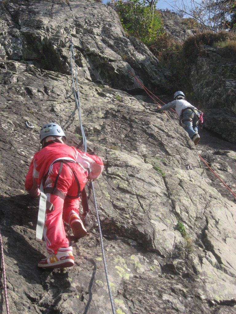 Le site d'escalade d'Alpe du Grand Serre est idéale pour l'initiation.