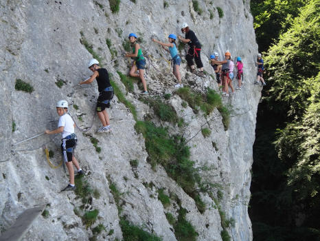 Via ferrata near Aix les bains, roc de Cornillon, perfect pour initiation