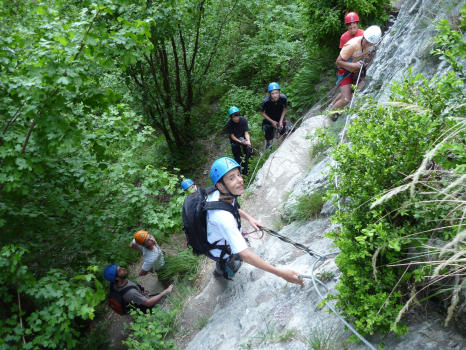 At the begining of the intermediate course of lavandiere. Crolles via ferrata