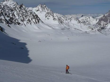 Descente sur le Glacier de Gébroulaz