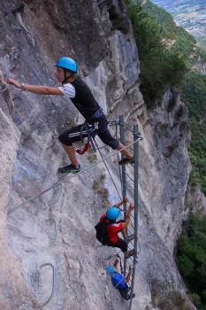 Martinet ladder, Saint Hilaire du Touvet Via ferrata