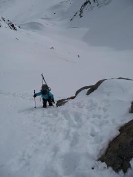 Les derniers mètres avant le Col du Borgne 3050m