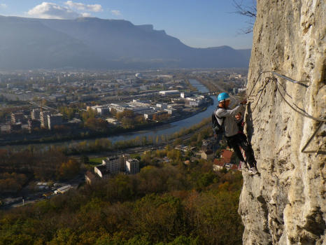 Bastille Via ferrata in Grenoble, Vercors range, Part 2