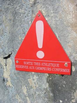 Attention ! Cette via ferrata réserve pour les sportifs
