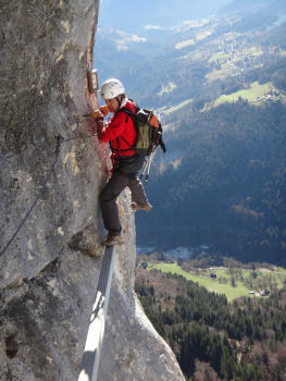 Roche Veyrand Via ferrata, close to Lyon and Grenoble