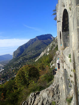End of the bastille Via ferrata, wilder part
