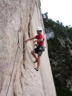 Le rocher est d'une grande qualité, compact et adhérant.