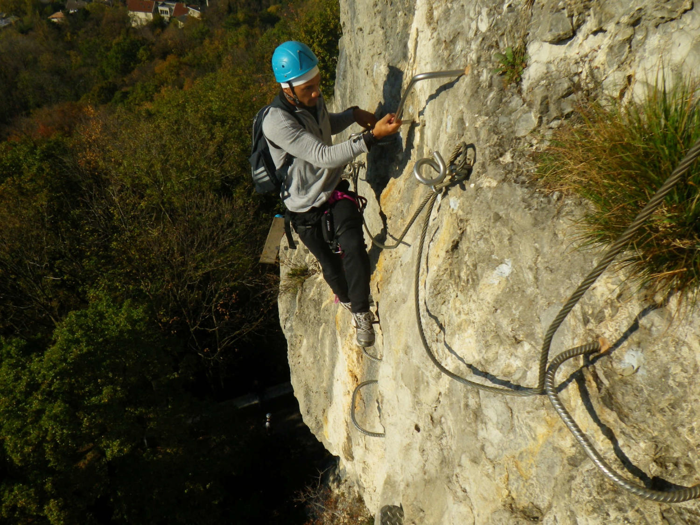 Klettersteig Ferrata : Bastille via ferrata part 1 and 2 grenoble lyon et annecy