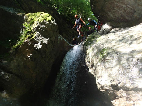 Jump in Ecouges complete course, Near Grenoble and Lyon, Vercors range
