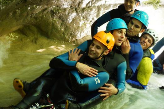 Idée enterrement de vie de Garçon au Canyon du Ternèze