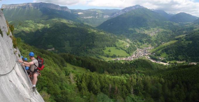 Near Saint Pierre d'Entremont, Roche Veyrand Via ferrata
