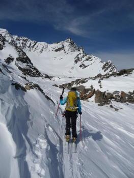 Remontée en direction du Col du Borgne