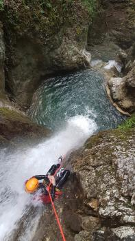 Toboggan et rappel Canyon du Versoud