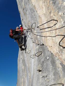 Via ferrata de la roche veyrand, massif de la Chartreuse