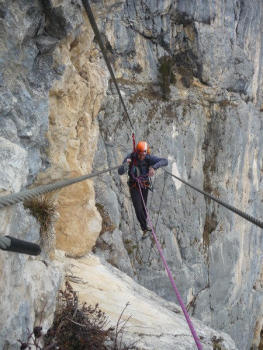 Jules carret Via ferrata, Bauges regional park
