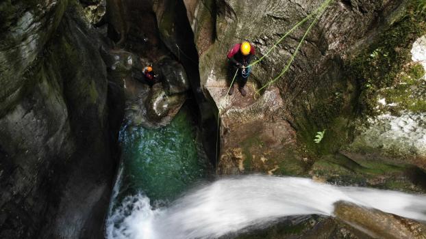 Départ du canyon du Furon partie haute