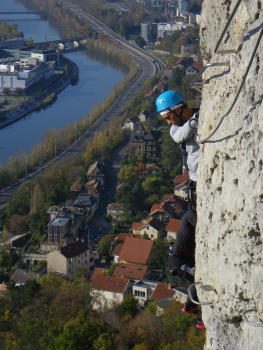 Bastille Via ferrata in Grenoble, mix of Wild an Urban!