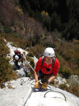 Via ferrata in Chartreuse, Roche Veyrand section for beginners