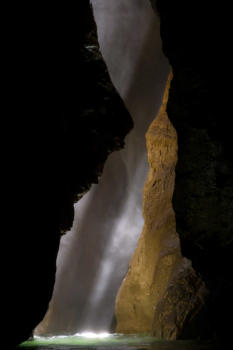 Light in the fabulous Infernet canyon, near Grenoble and Lyon