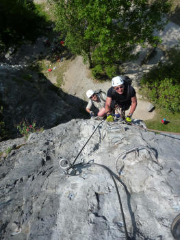 Bastille Via ferrata, first Pillar