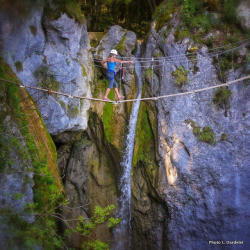Via Ferrata in Saint-Vincent de Mercuze
