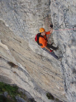 Crolles Via ferrata, complete course, Chartreuse mountain range