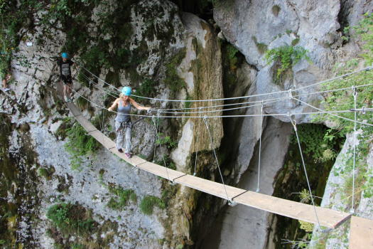 Pont néplais, via ferrata de St Vincent de Mercuze