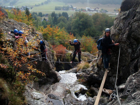 Waterfall via ferrata, Alpe du Grand Serre, close to Grenoble and la Mure, perfect for children, pupils and beginners