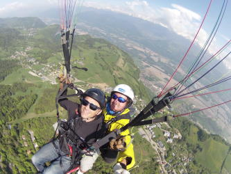 Vol parapente Sensation